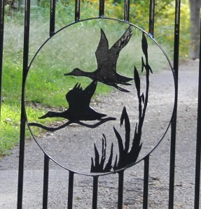 Custom design of my entry gate by me and fabricated by my son.