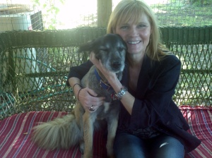 Lisa  with 15 year old, Marley. Lisa found Marley as a tiny puppy in her neighborhood.